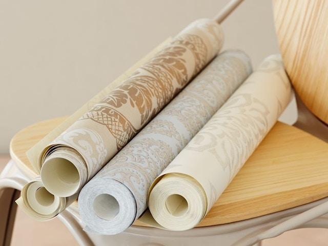 behang papier rollen behangpapier behangen