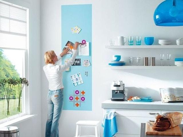 mur de peinture magnétique